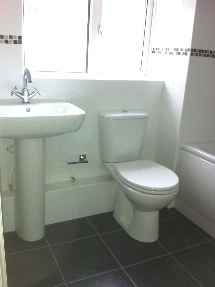 New bathroom - toilet and sink