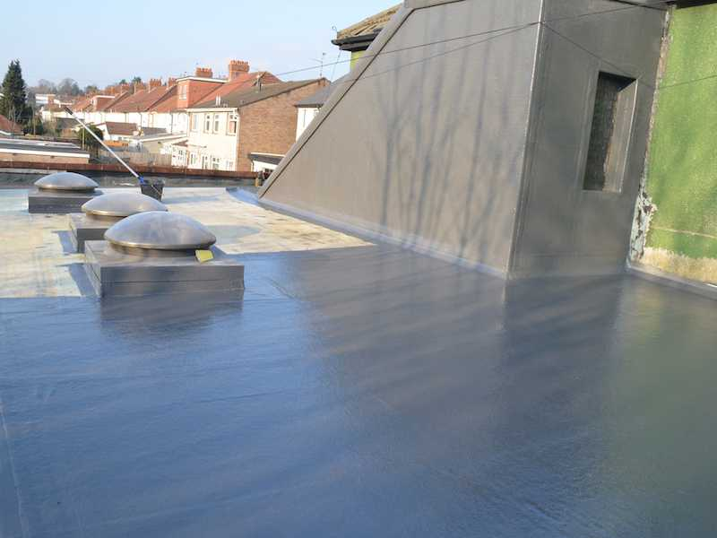New fiberglass industrial roof